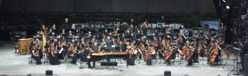 Thierry Fischer, Louis Schwizgebel, l'Orchestre des Continents, Su. - 26.07.2015, Grande Scène © Paléo / Lionel Flusin